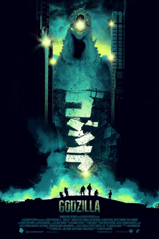 Patrick Connan's Godzilla poster