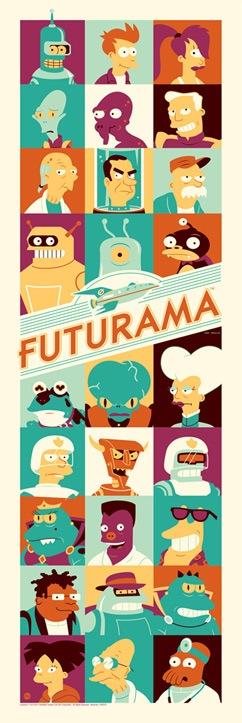 Dave Perillo's officially licensed Futurama print