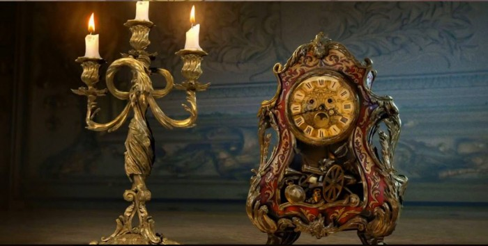 Lumiere and cogsworth from beauty and the beast