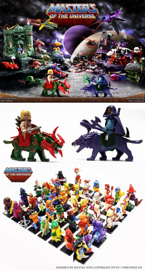 Masters of the Universe LEGO Replicas from Alex Jones
