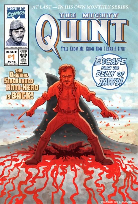 PJ McQuade's Wolverine/Jaws mash-up comic book cover