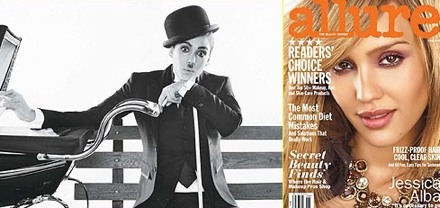Jessica Alba as Charlie Chaplin