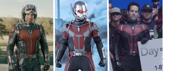 Ant-Man Suit Evolution