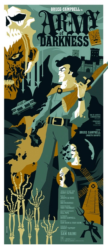tom whalen's army of darkness poster