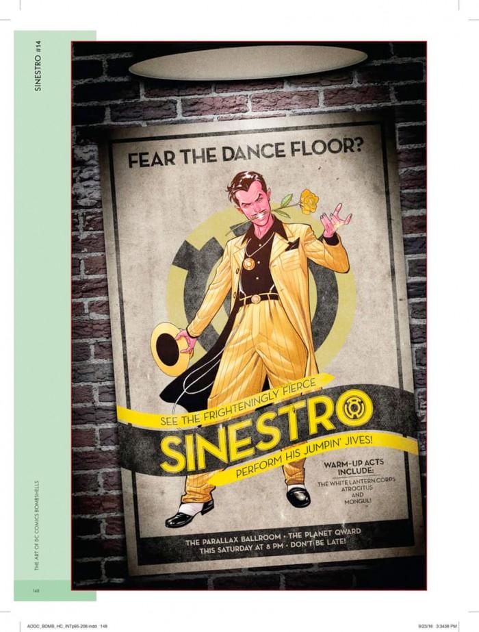 Art of DC Bombshells Sinestro
