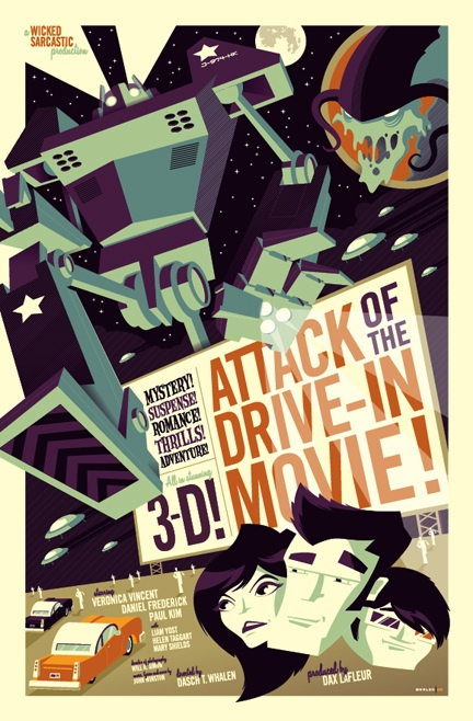 attack of the drive-in movie poster