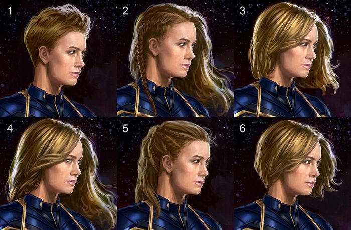 Avengers: Endgame - Captain Marvel Hairstyle Concept Art