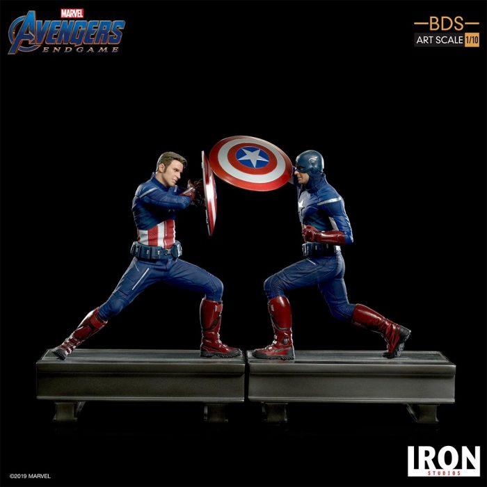 Avengers: Endgame - Cap vs Cap Statues