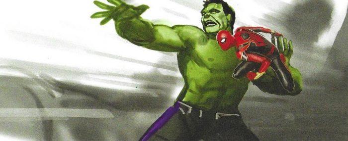 Avengers: Endgame Concept Art - Hulk Throwing Spider-Man