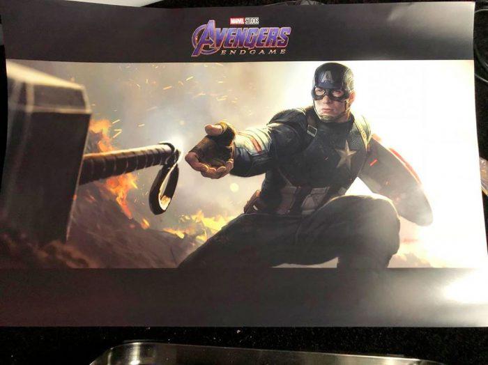 Avengers Endgame Concept Art - Captain America and Mjolnir