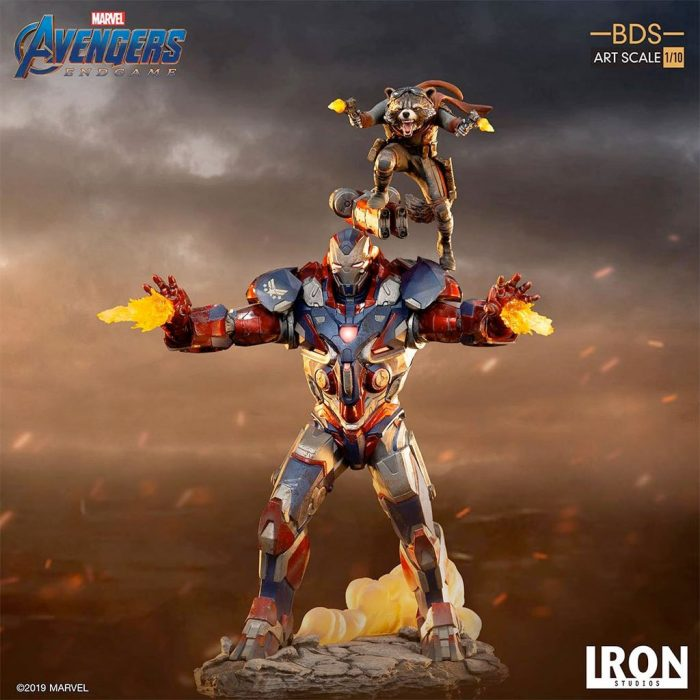Iron Patriot and Rocket Raccoon - Avengers Endgame Statue