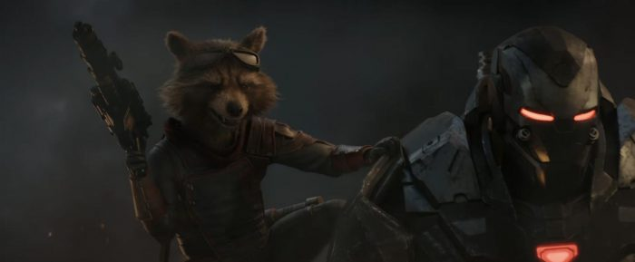 Avengers Endgame - Rocket Raccoon and War Machne