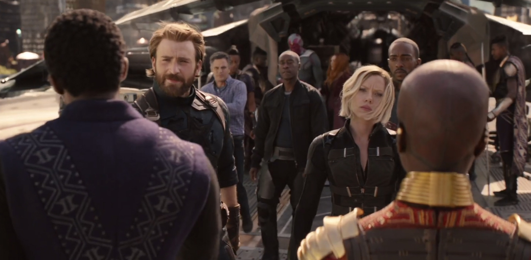 scarlett johansson and chris evans avengers infinity war