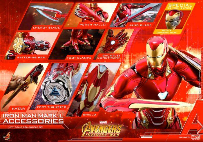 Avengers Infinity War - Iron Man Hot Toys Accessories