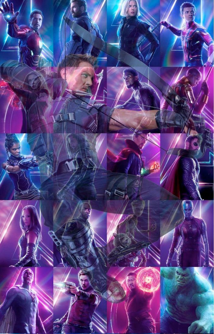 Avengers Infinity War Hawkeye Collage