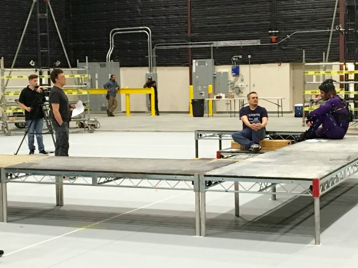 The Avengers Infinity War Set Photo - Rehearsal