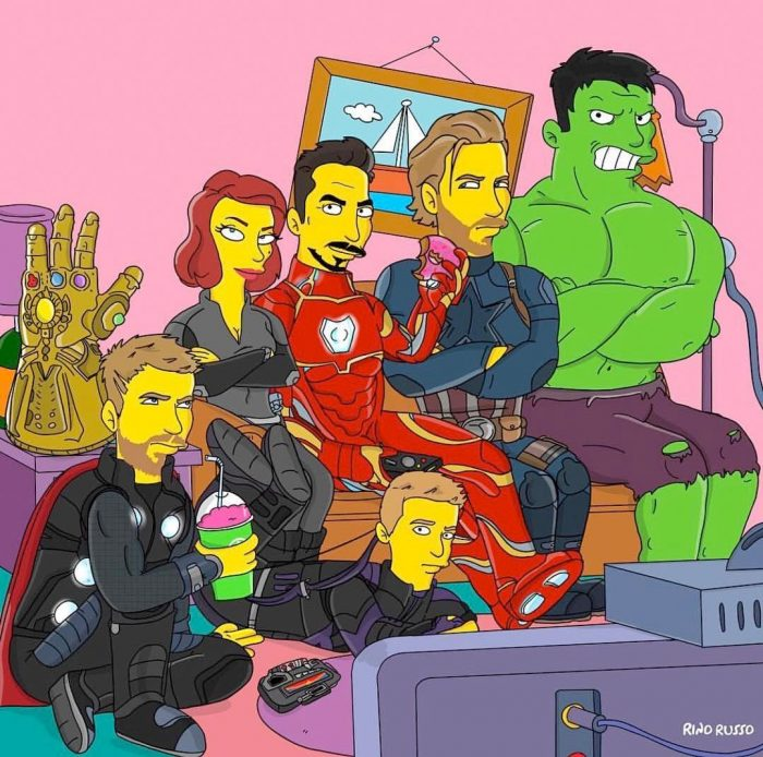Avengers as Simpsons Characters