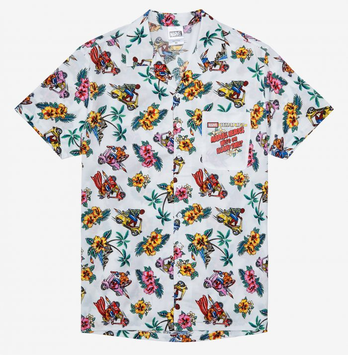 Avengers Tropical Button Up