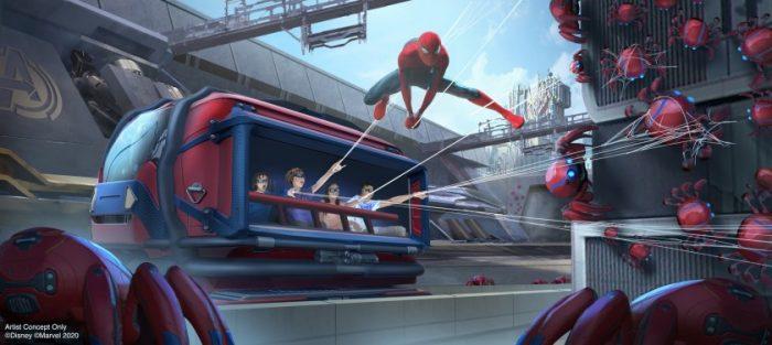 Avengers Campus Details - Web Slingers Spider-Man Ride