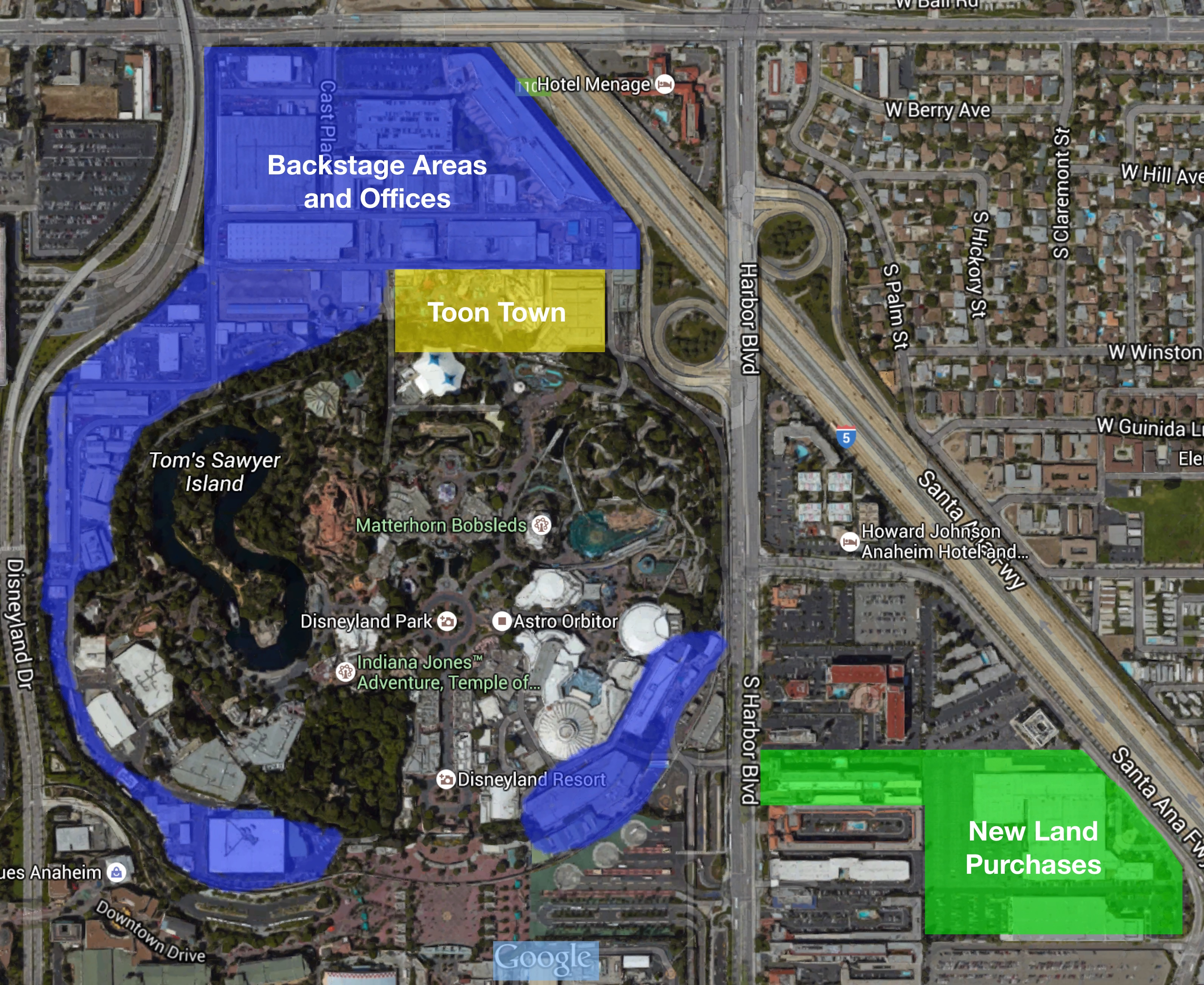 Disneyland land purchased across the street from park for Location parking