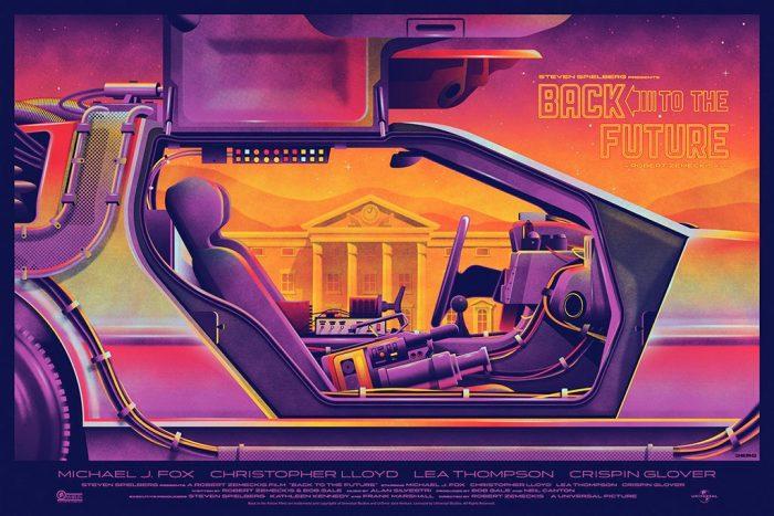 Back to the Future Mondo Print