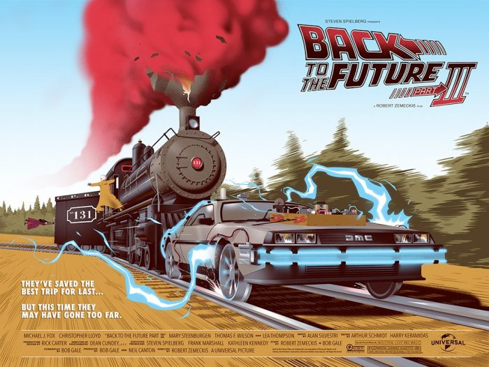 Back to the Future Part III Mondo Print