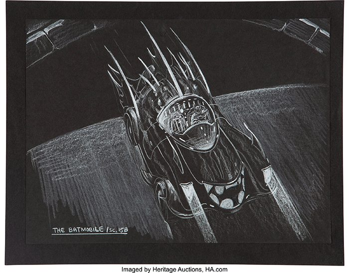 Batman 1989 Batmobile Concept Art