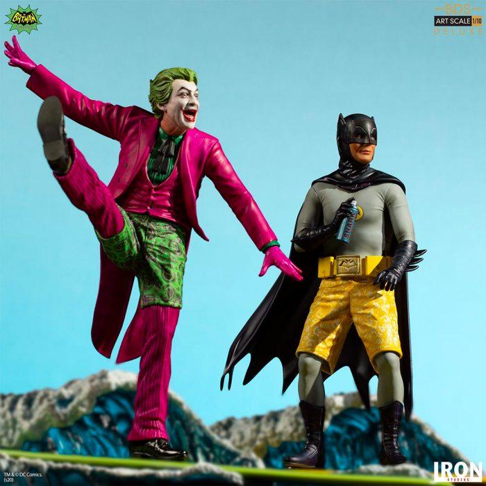 Batman and Joker Surf Statues