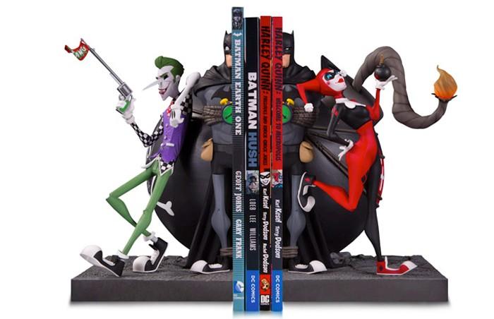 Batman, The Joker & Harley Quinn Bookends