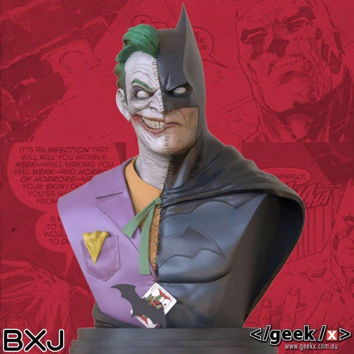 Batman and Joker Hybrid Bust