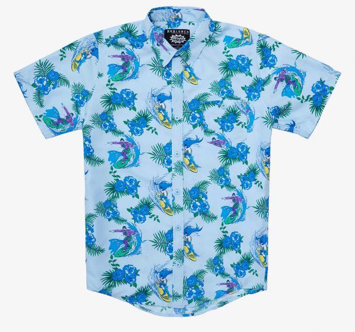 Batman and Joker Surfing Button Up Shirt