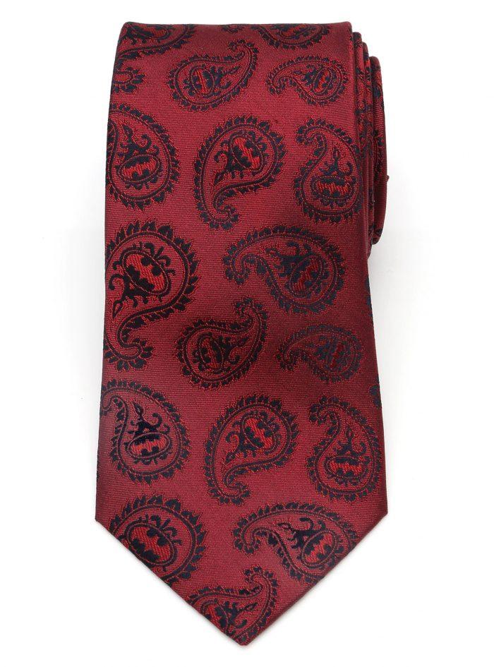 Batman - Red Paisley Tie