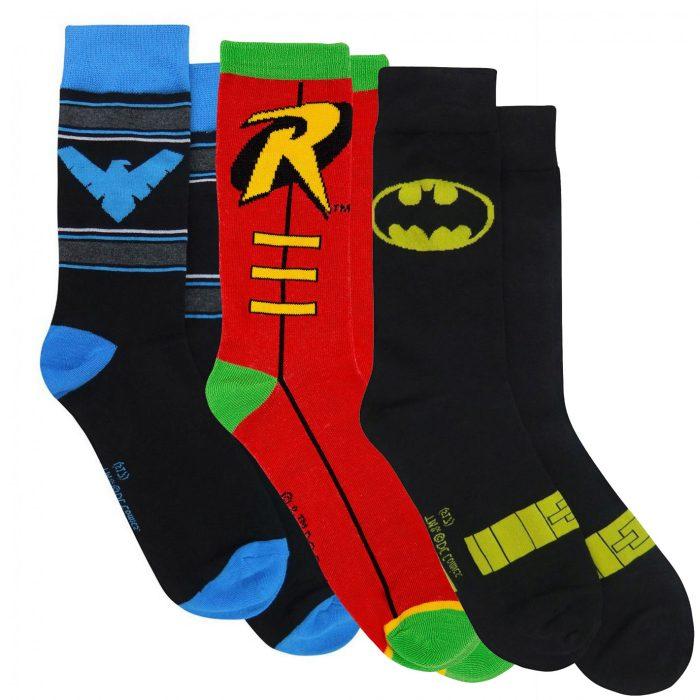 Batman, Robin and Nightwing Socks