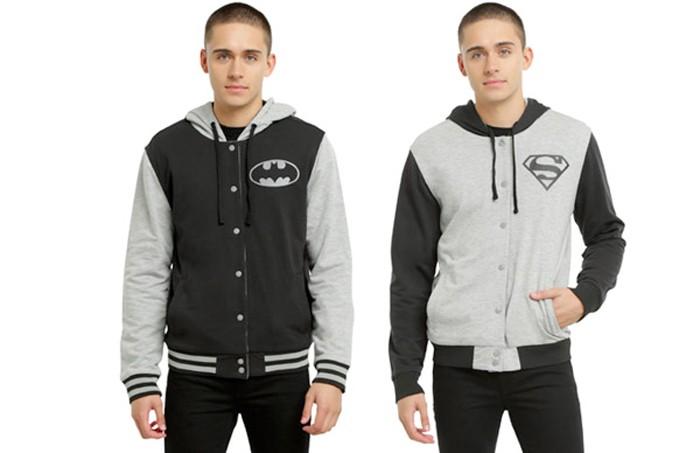 Batman and Superman Reversible Hoodie