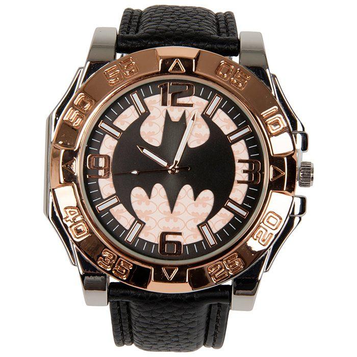 Batman - Black and Rose Gold Metal Watch