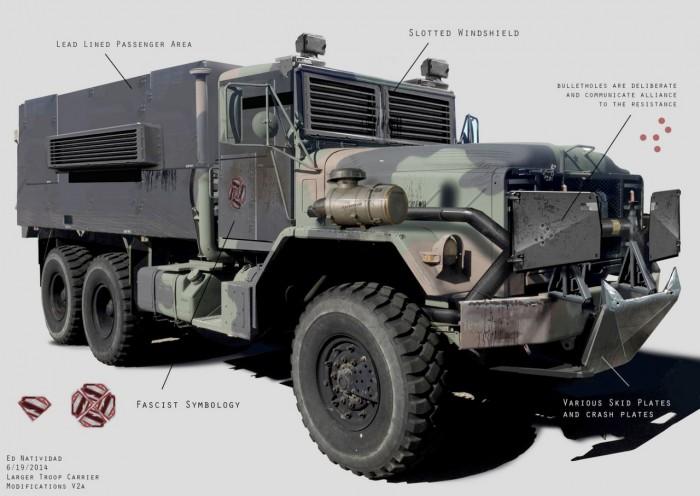 Batman v Superman Concept Art - Knightmare Vehicles