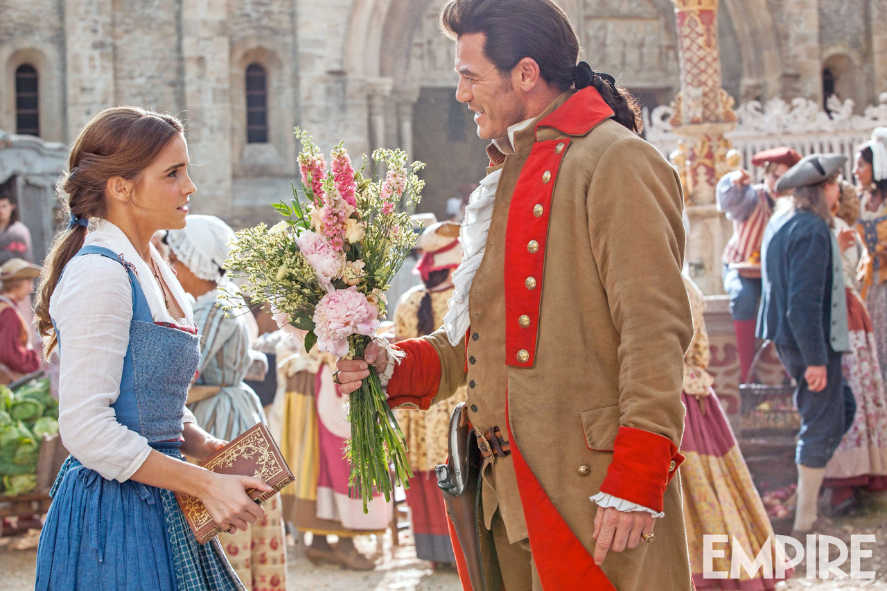New beauty and the beast photo gaston attempts to woo belle beauty and the beast photo izmirmasajfo
