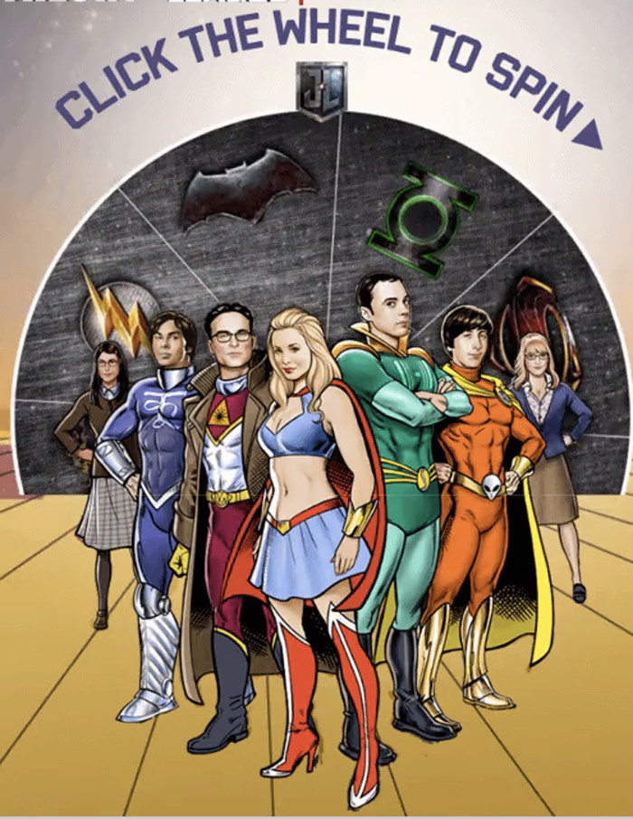 The Big Bang Theory - Justice League Contest