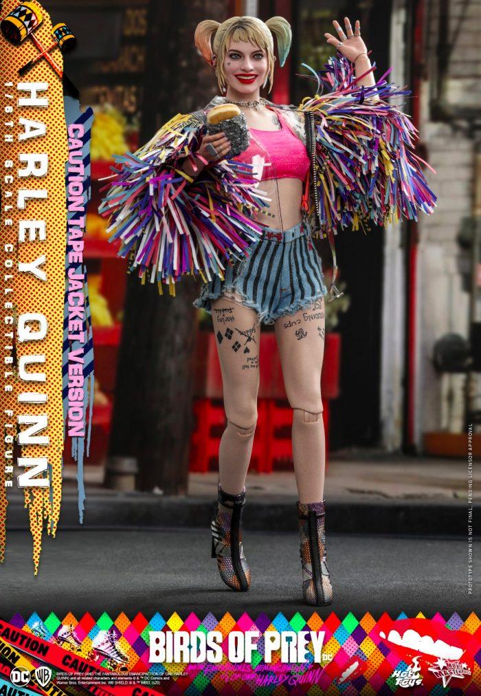 Birds of Prey - Harley Quinn Caution Tape Jacket Hot Toys Figure