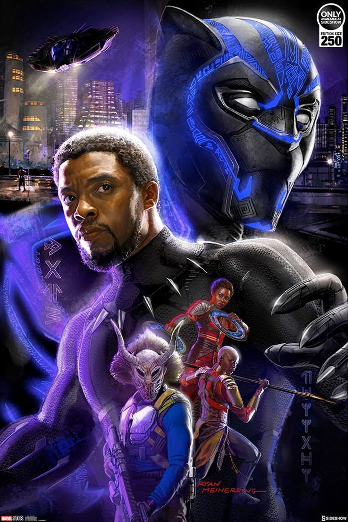 Black Panther Fine Art Print - Sideshow Collectibles