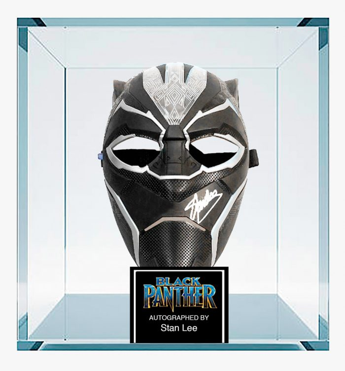 Black Panther Mask Signed by Stan Lee