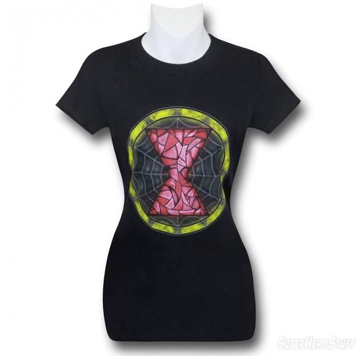 blackwidow-stainedglass-shirt
