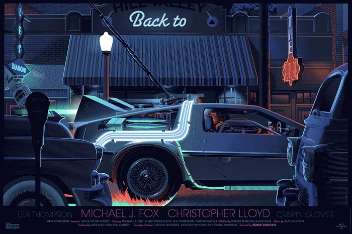 Mondo Back to the Future - Laurent Durieux Print