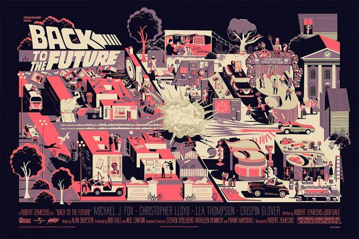 Mondo Back to the Future Print - Adam Simpson (Variant)