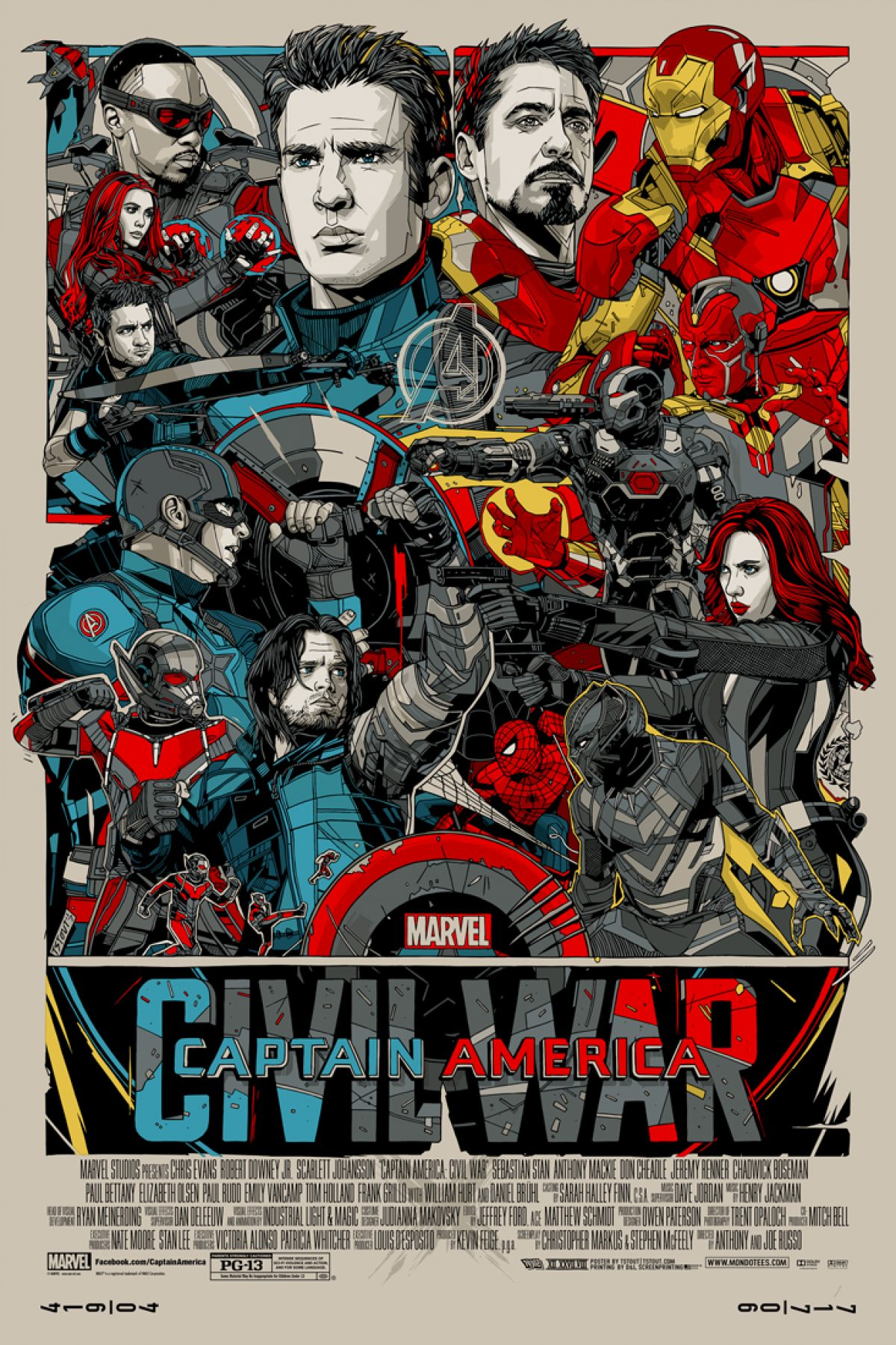 Captain America Civil War Mondo Poster Revealed