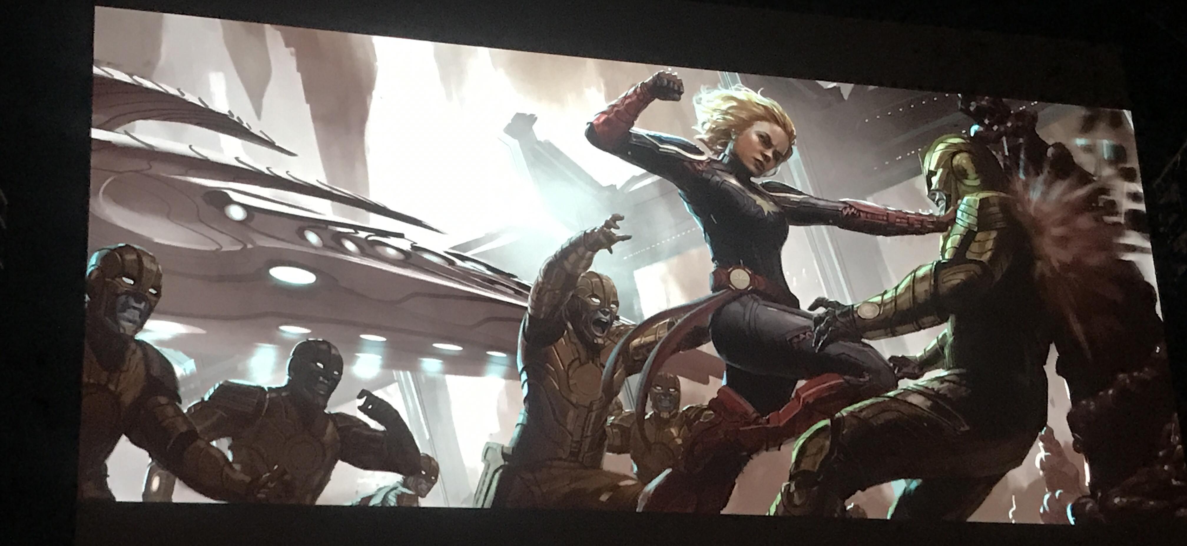 captain marvel concept art revealedartist andy park