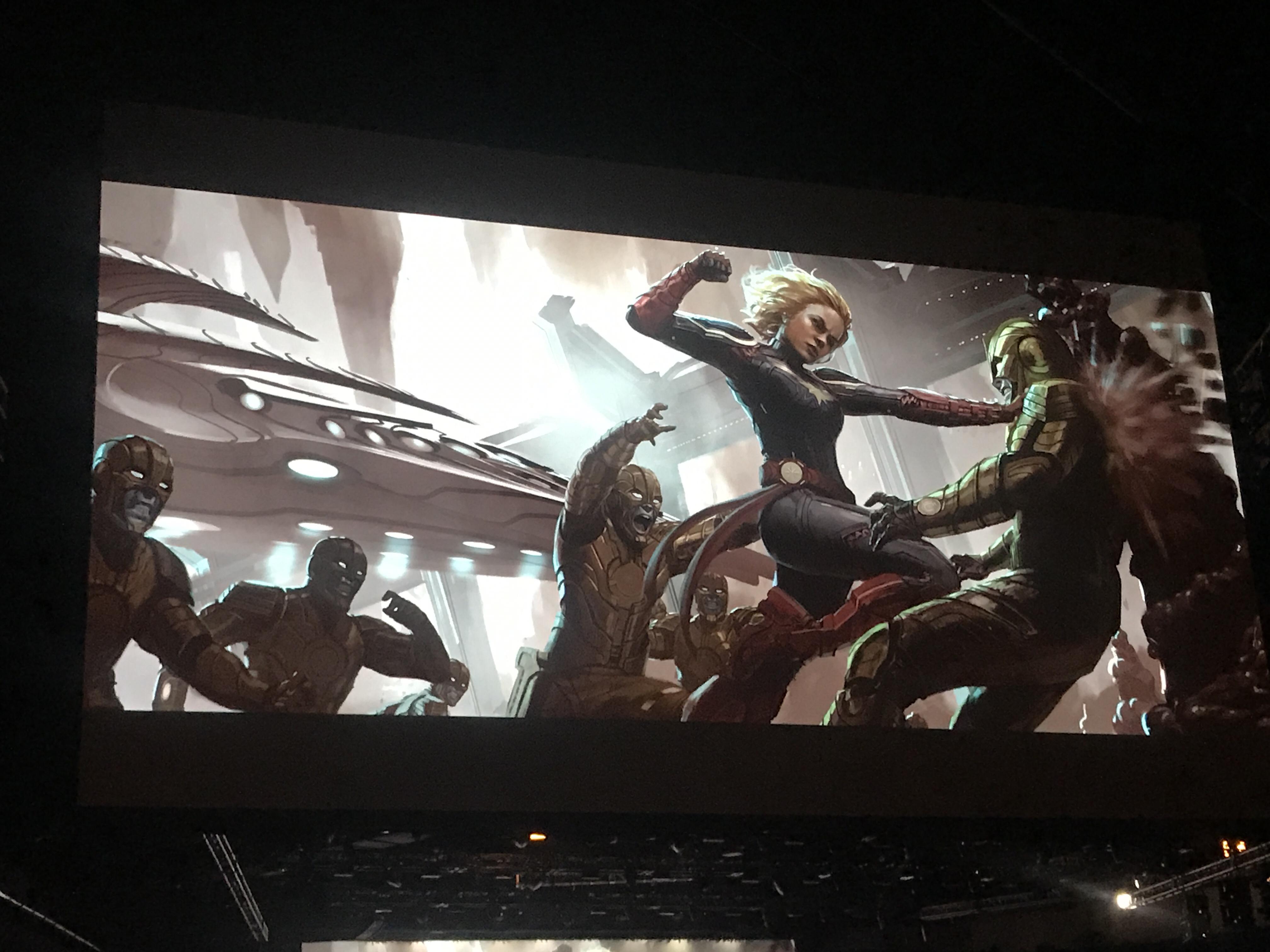 Kevin Feige At Comic Con Skrulls 90s Captain Marvel Superhero