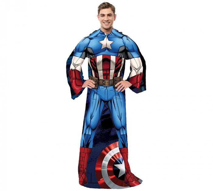 Captain America Adult Sleeve Blanket