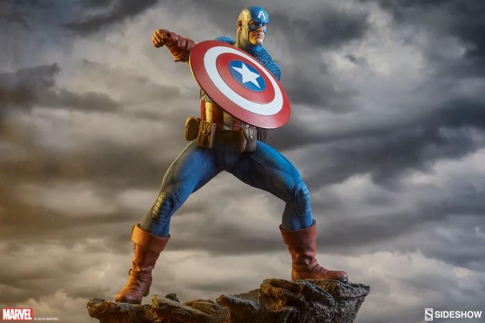 Captain America Avengers Assemble Statue