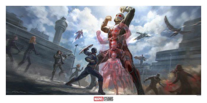 Captain America Civil War Concept Art Print